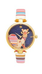 Kate Spade New York Novelty Leather Watch Multi Gold