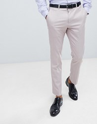 Burton Menswear Textured Suit Trousers In Pink