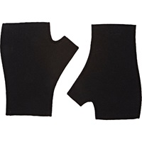Double Faced Fingerless Mittens Black
