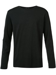 Atm Anthony Thomas Melillo Classic Long Sleeve Top Men Cotton M Black