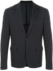 Cnc Costume National Unlined Blazer Blue