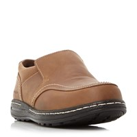Hush Puppies Vindo Victory Casual Slip On Loafers Tan