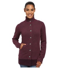 Mountain Hardwear Sarafin Button Front Sweater Dark Raspberry Women's Sweatshirt Red