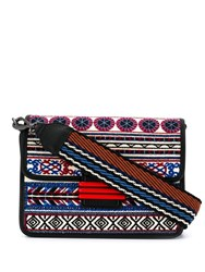 Etro Embroidered Patchwork Shoulder Bag Black