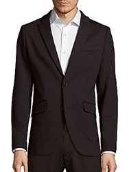 Perry Ellis Slim Straight Heathered Sportcoat Charcoal
