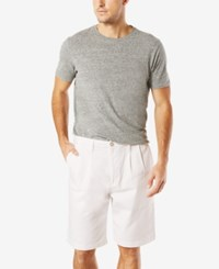 Dockers Men's Double Pleated Shorts White