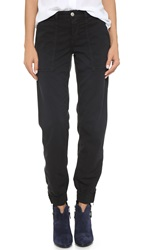 Joe's Jeans Flight Zip Ankle Joggers Jet Black