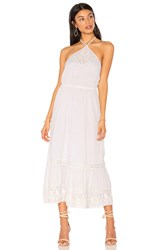 Boemo Cayo Blanco Halter Midi Dress White