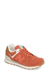 New Balance Women's 574 Global Surf Sneaker Pink Clay