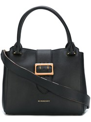Burberry Runway Buckle Detail Tote Bag Black