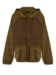 Haider Ackermann Perth Oversized Zip Through Sweat Jacket Khaki