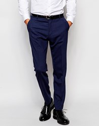 Selected Homme Travel Suit Trousers With Stretch In Slim Fit Navy