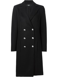 Versus Double Breasted Coat Black