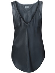 Maiyet Deep V Neck Top Grey