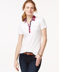Tommy Hilfiger Contrast Collar Polo Shirt Classic White