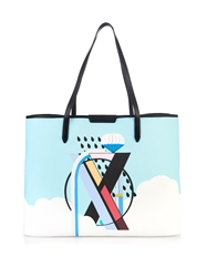 Mary Katrantzou X Melina Coated Canvas Tote