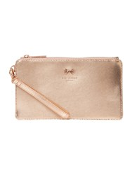 Ted Baker Rizzion Mini Grain Wristlet Rose Gold