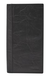 Fossil Men's Neel Leather Executive Wallet Black