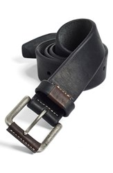 Men's Big And Tall Johnston And Murphy Leather Belt Black