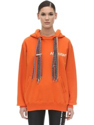 Ambush Oversize Cotton Sweatshirt Hoodie Orange