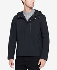 Andrew Marc New York Men's Stratus Waterproof Hooded Coat Black