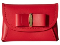 Salvatore Ferragamo 22C704 Pamplona Wallet Handbags Red