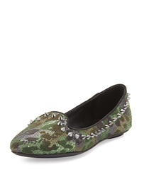 Ash As If Camo Sequin Spiked Flat Black