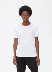 Bassike 'S Short Sleeve Heritage T Shirt In White Size Xs