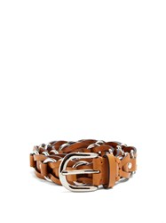 Isabel Marant Links Leather Belt Brown