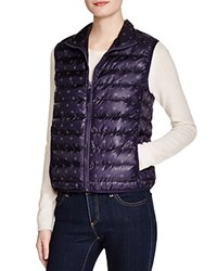 Velvet By Graham And Spencer Printed Puffer Vest Navy Cream
