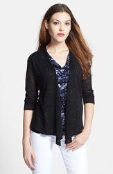 Nic Zoe '4 Way' Convertible Cardigan Regular And Petite Black Onyx