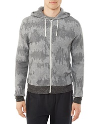 Alternative Apparel Patterned Hoodie Eco Graphite