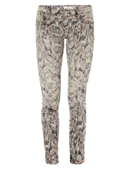 Iro Ogden Printed Low Rise Skinny Jeans