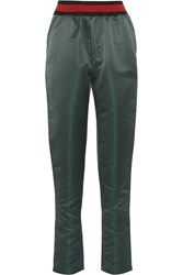 Tomas Maier Duchesse Satin Track Pants Army Green