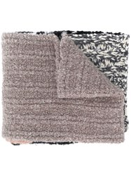 Missoni Knitted Stripe Scarf Black