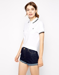 Fred Perry Polo Shirt Whiteblack
