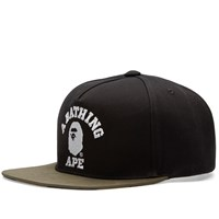 A Bathing Ape College Snapback Green