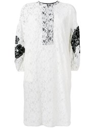 Nude Lace Dress Women Cotton Polyester 40 White
