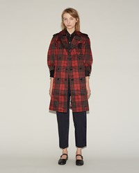 Comme Des Garcons Tartan Trench Coat Pattern A