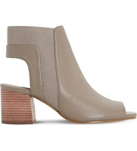 Dune Jericho Leather Ankle Boots Grey Leather