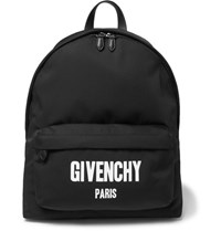 Givenchy Printed Canvas Backpack Black