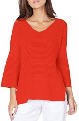Michael Stars Bell Sleeve Sweater Coral Sherbet