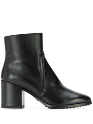 Tod's Piped Zip Up Boots Black