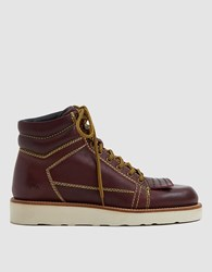 J.W.Anderson Hiking Boot Burgundy