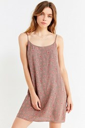 Urban Renewal Remnants Ditsy Floral Slip Dress Grey