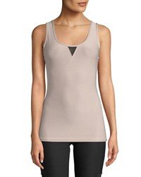 X By Gottex Power Mesh V Stitch Muscle Tank Neutral