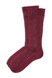 Etro Ribbed Knit Socks Red