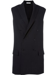 Lucio Vanotti Sleeveless Double Breasted Jacket Blue