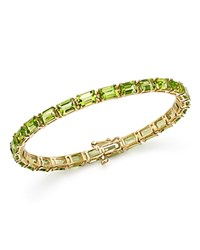 Bloomingdale's Peridot Tennis Bracelet In 14K Yellow Gold Gold Green