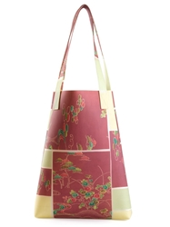 Luisa Cevese Riedizioni Japanese Print Tote Red